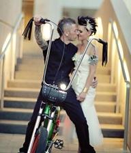 bride and harley davidson