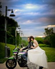 wedding biker bride