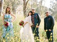 rock chic bride in woods