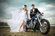 biker girl bride