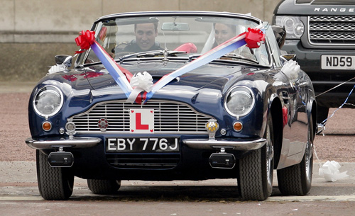 Aston Martin Royal Bentley Classic Cars In William Kate Wedding 1