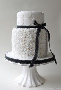 mono wedding cake