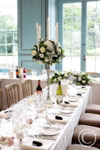 table wedding setting
